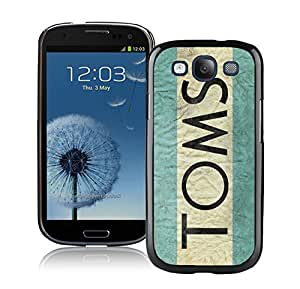 Fahionable Custom Designed Samsung Galaxy S3 I9300 Cover Case With TOMS Black Phone Case