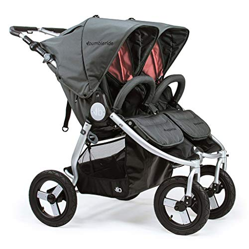 Bumbleride All-Terrain Indie Twin Infant Baby Stroller Dawn Grey Coral