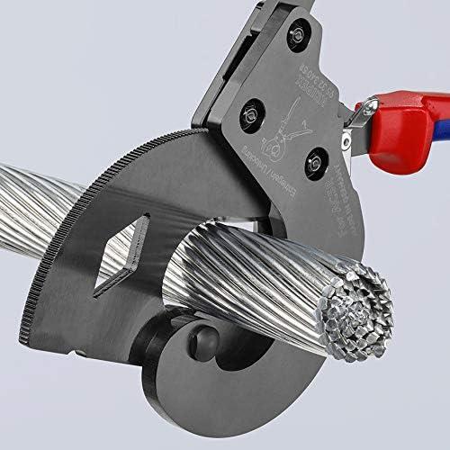 tipo carraca KNIPEX 95 32 340 SR Cortacables para cables ACSR con n/úcleo de acero para cables con n/úcleo de acero con fundas en dos componentes 340 mm
