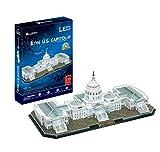 CubicFun L193h The Capitol Hill (with LEDs) Washington US World's Great Architectures 3d Puzzle, 150 Pieces