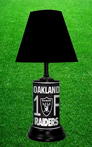 OAKLAND RAIDERS TABLE LAMP