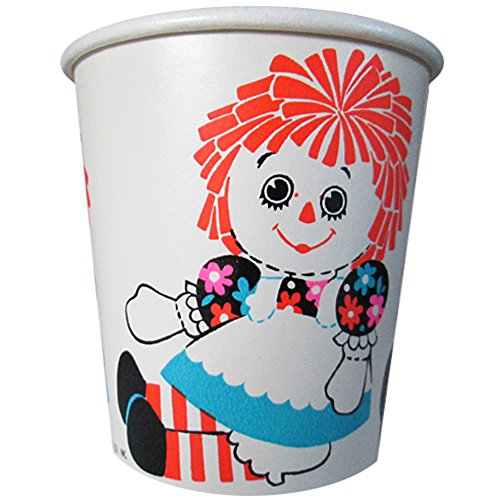 Raggedy Ann Vintage 1970s 7oz Paper Cups (Raggedy Ann And Andy Party Supplies)