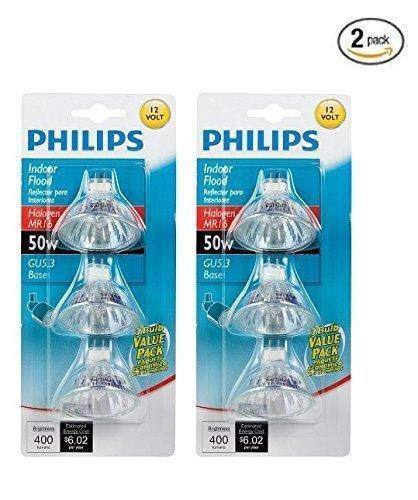 Philips 415802 Landscape and Indoor Flood 50-Watt MR16 12-Volt Light Bulb, 3-Pack x -