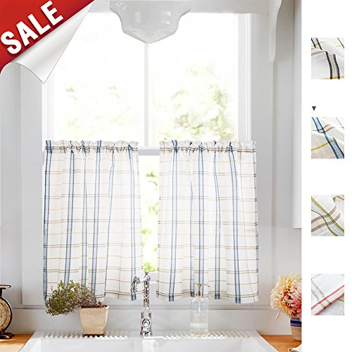 Hunter Green Kitchen Curtains: Compare Price To Green Gingham Kitchen Curtains