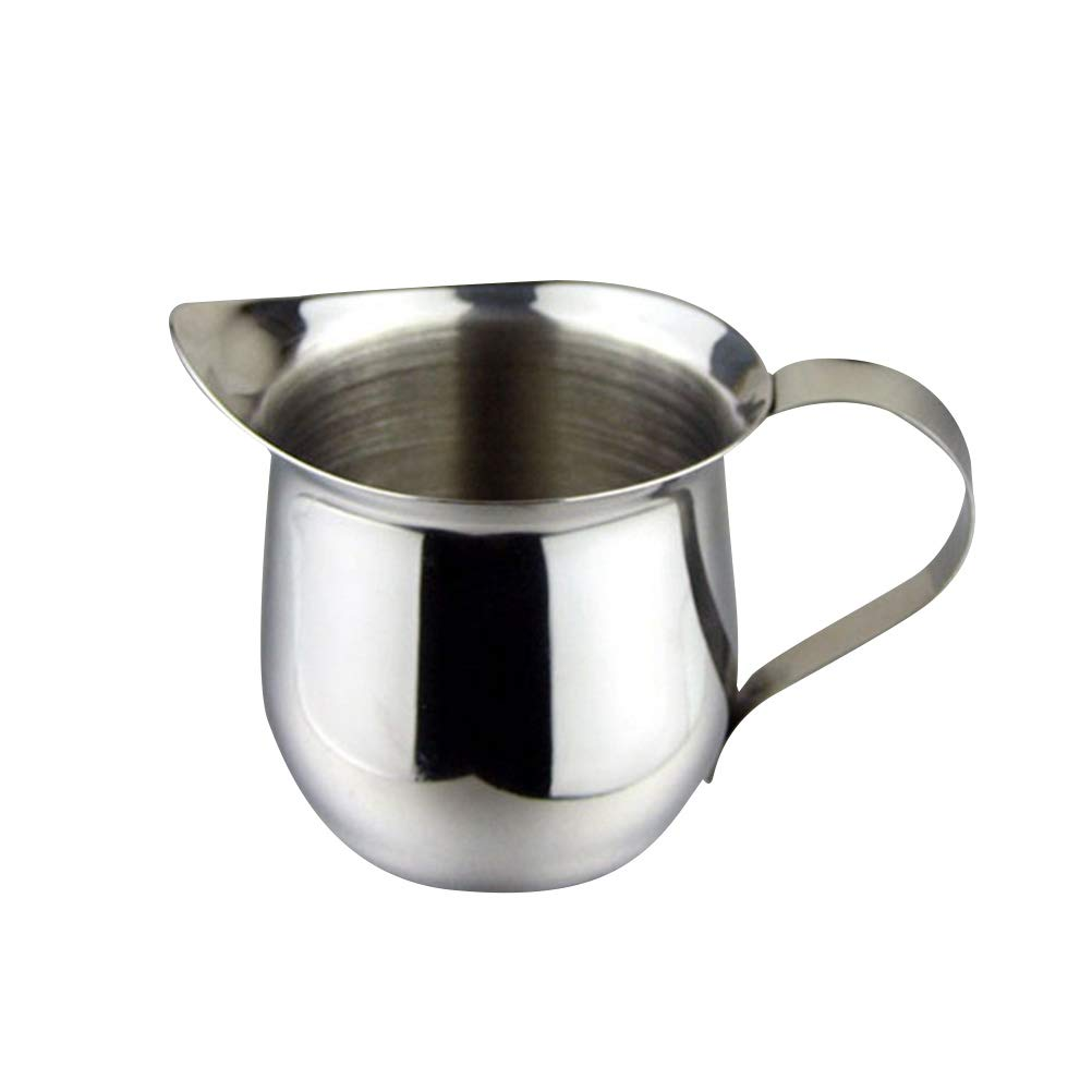 BESTONZON 2PCS Stainless Steel Milk Frothing Pitcher/Milk Pourers/Bell Creamer,- Perfect for Espresso Machines, Milk Frothers(150ml/5oz)