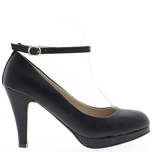donna nera scarpe tacco 9 f916f519a60d74b - universitesn.com 4e2694be089