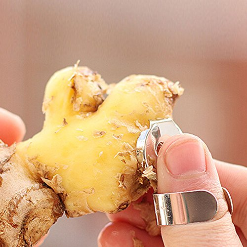 NPLE--Mini 2Pcs Kitchen Gadget Garlic Ginger Stainless Steel Cutter Peeler Tools