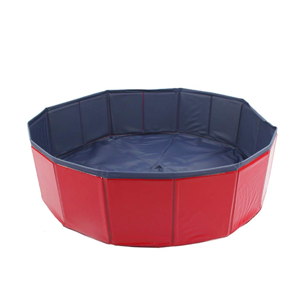 80x20cm Foldable pet dog cat play pool puppy swimming bath tub-80x20cm