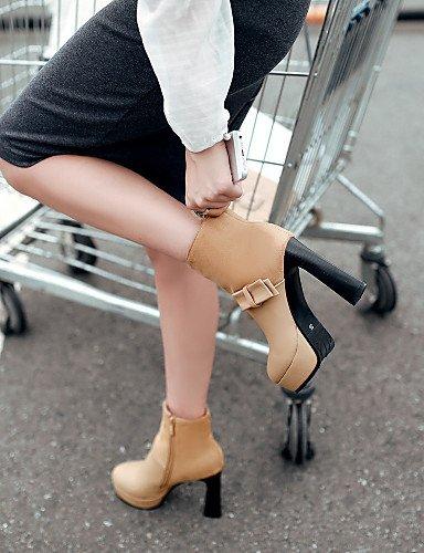 XZZ  Damenschuhe - Stiefel - Outddor Outddor Outddor   Büro   Kleid   Lässig - Kunstleder - Plateau - Komfort   Modische Stiefel - Schwarz   Beige   Orange 4b51cc