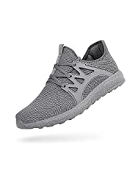 Feetmat Men's Running Shoes Ultra Lightweight Breathable Mesh Athletic Sneakers