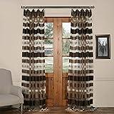 Cheap HPD HALF PRICE DRAPES SHCH-OCS16072-84 Organza Horizontal Stripe Sheer Curtain, 50 x 84, Antique Bronze