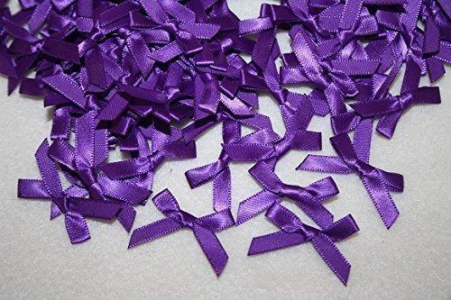 floral supplies purple satin bows 7mm x100pcs wedding stationary scrapbook embellishment trim