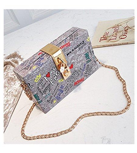 Fashion New Rivet Box Handbags Mini Cube Brand Original Design Crossbody Bags For Women Messenger Bags Gray