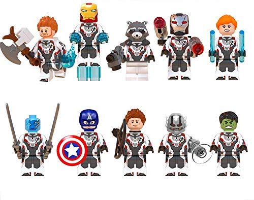 Tiolo Avengers Endgame Super Heroes Minifigures Building Blocks Toys with Accessories Infinity War for Kids Set 10Pcs
