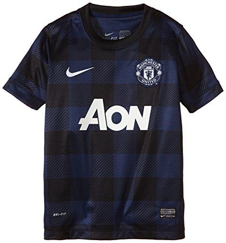 Nike Manchester United Boys Short Sleeve Away Replica Jersey (Midnight Navy) (L)