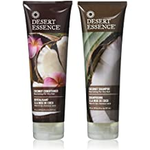 Desert Essence Coconut Shampoo & Conditioner - 8 oz.(Bundle)