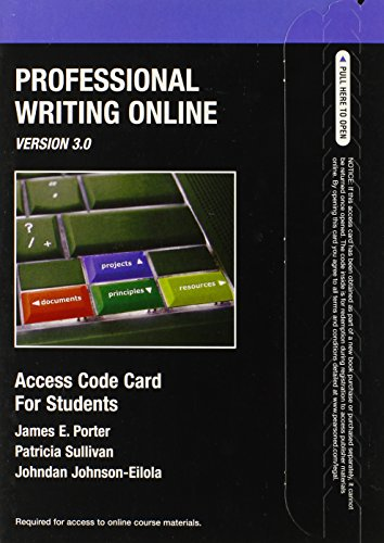 (Professional Writing Online Version 3.0)