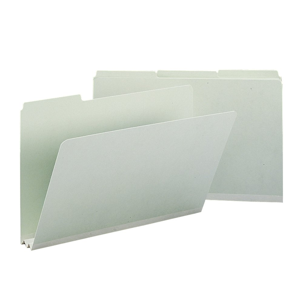 Smead 18234 Recycled Folders, Two Inch Expansion, 1/3 Top Tab, Legal, Gray Green (Box of 25)