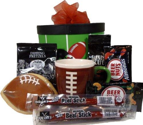 Delight Expressions Get in the Endzone Gift Box - Football Gift Basket idea