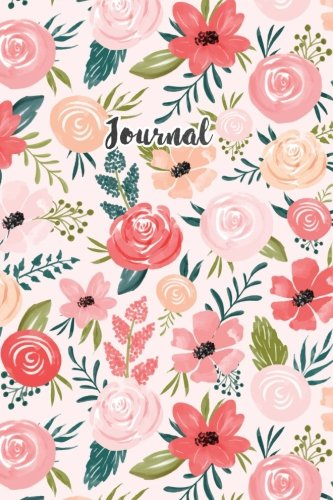 Journal: Bullet Journal Floral Pink and Blue Flowers Notebook Dotted Grid 120 Dot Grid Pages Planner Journal Sketchbook Diary (6 x 9) Softbound Cover (Bullet Journals)