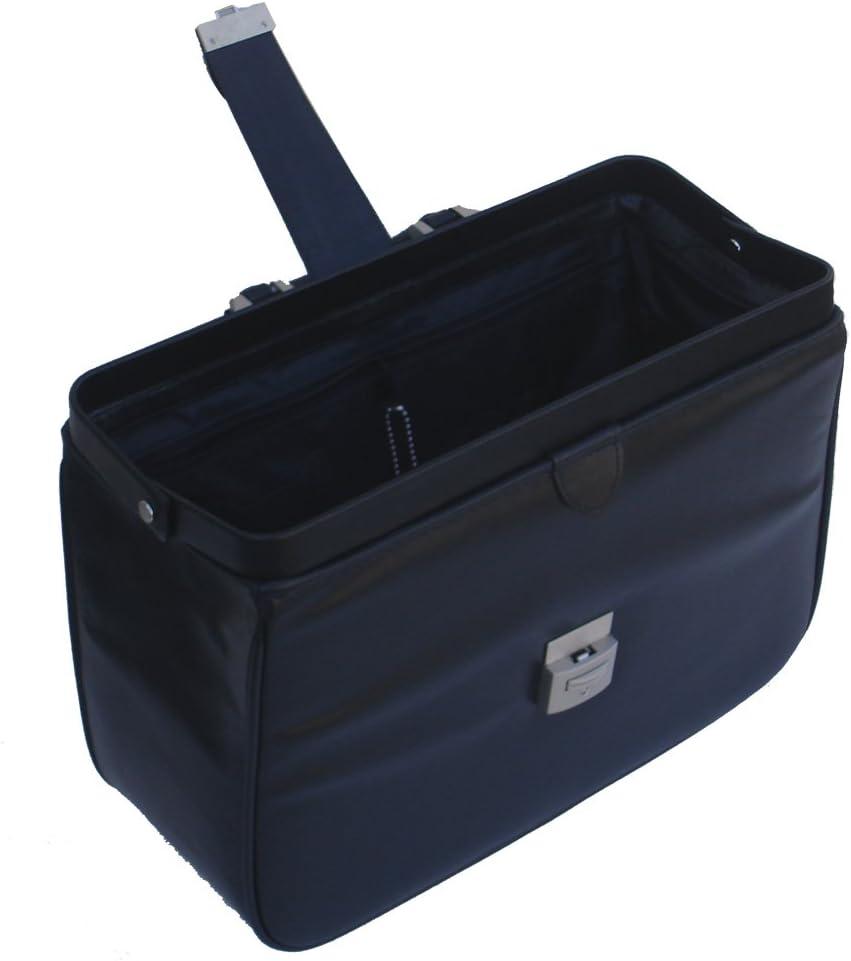 Medium Black RA Bock Fine Leather Doctor Bag