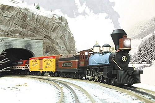 Virginia Truckee O-gauge train set with Halloween accessories