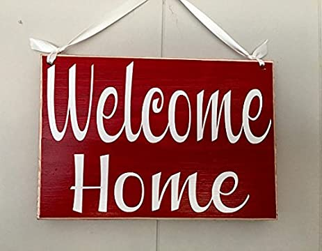 Amazon welcome home 8x6 choose color rustic custom front door welcome home 8x6 choose color rustic custom front door greetings plaque sign m4hsunfo