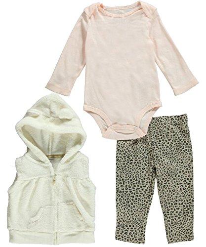 Carters Girls 3 Piece Vleboa Bodysuit