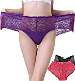 Warmword 3 Pack Sexy Lace Underwear for Women Panties Size 11 / 12/ 13/ 14