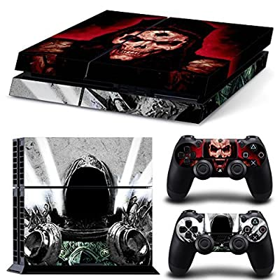 Vinyl Decal Protective Skin Cover Sticker for Sony PS4 Console And 2 Dualshock Controllers #04