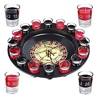 S/O® Trinkspiel Roulette incl. Geschenkverpackung Party Spiel Saufspiel für...