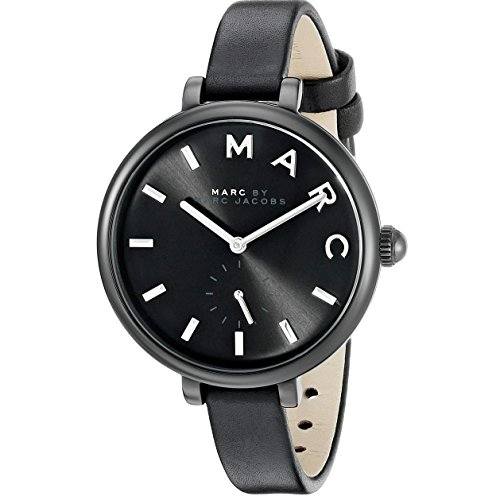 Marc Jacobs Women's Sally Black Leather Watch - MJ1417 (Women Black Marc Watches Jacobs)
