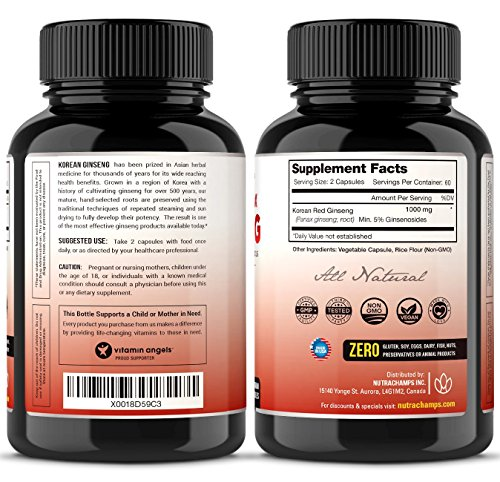 NutraChamps-Korean-Red-Panax-Ginseng-1000mg-120-Vegan-Capsules-Extra-Strength-Root-Extract-Powder-Supplement-w-High-Ginsenosides-for-Energy-Performance-Mental-Health-Pills-for-Men-Women
