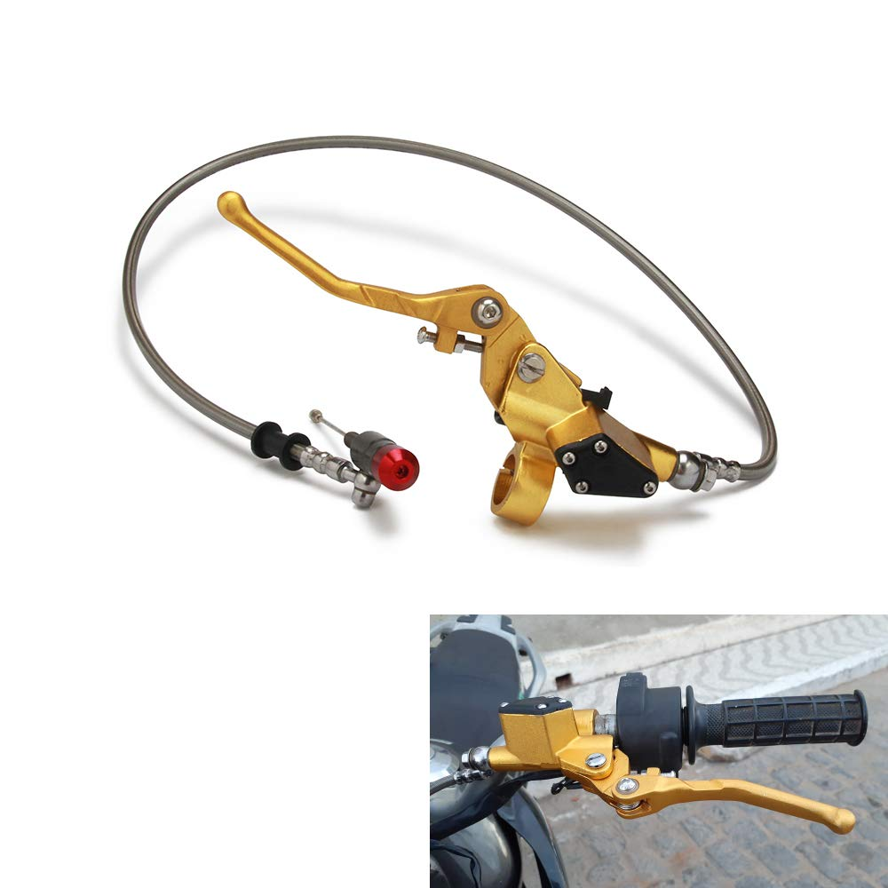Gold Motorcycle 1200mm Hydraulic Clutch Lever Master Cylinder For 125CC-250CC 150CC 200CC Dirt Pit Bike