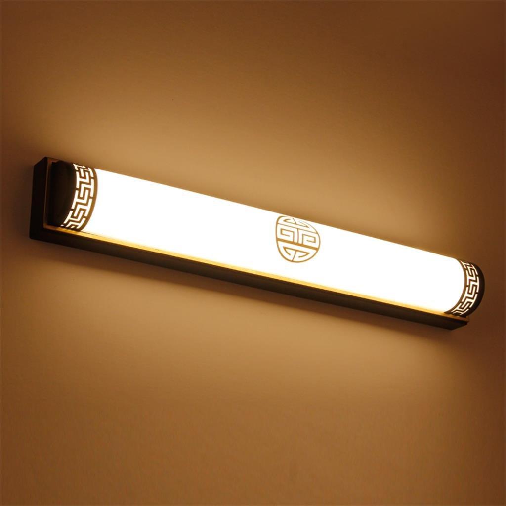 Ail@ Moderne neue chinesische Spiegel vorne Licht führte Schlafzimmer Spiegel Lampe Wand Lampe Make-up Lampe Badezimmer Badezimmer Spiegel Kabinett Lichter (Farbe   Warmes Licht-63 cm)