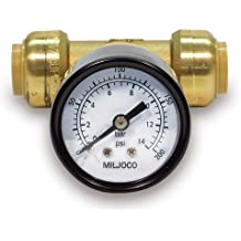 "SharkBite Pressure Gauge with 3/4"" x 3/4"" x 1/2"" Tee (Lead Free)"