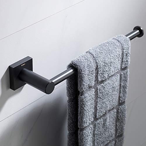 KRAUS Ventus Bathroom Towel Bar, Matte Black Finish, KEA-17725MB