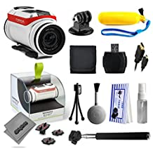 TomTom Bandit 4K Action Camera with Floaty Bobber + Selfie Stick + HDMI Cable + MicroSD Reader + Card Wallet + Tripod Adapter + Cleaning Kit