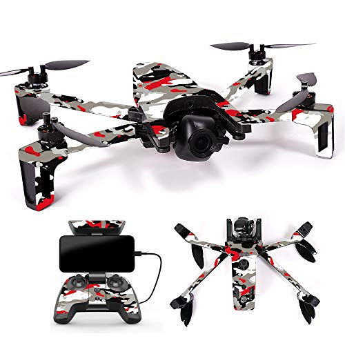 MightySkins Skin for Parrot Anafi Drone – Red Camo | Protective, Durable, and Unique Vinyl Decal wrap Cover | Easy to Apply, Remove, and Change Styles | Made in The USA For Sale