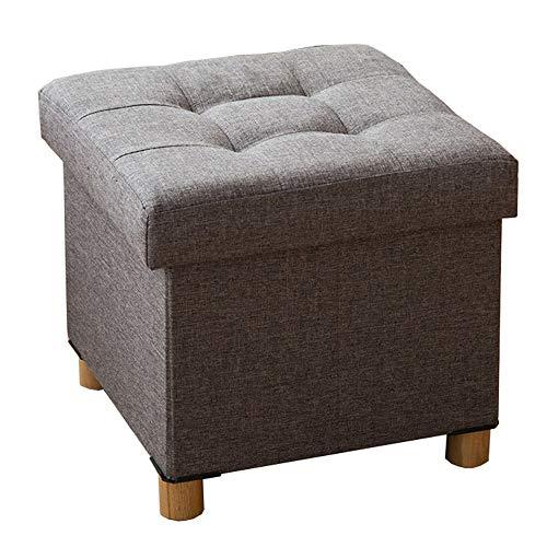 LJFYXZ Acumulación Habilidad Multifuncional Plegable Sentado Cuadrado Ropa de algodón Permeabilidad 38 x 38 x 35 cm (Color...