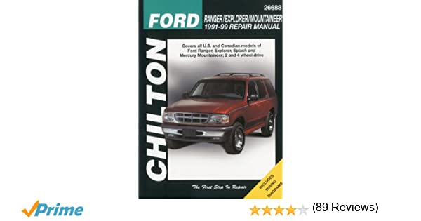 Ford ranger explorer and mountaineer 1991 99 chilton total car ford ranger explorer and mountaineer 1991 99 chilton total car care series manuals chilton 9780801991318 amazon books fandeluxe Images