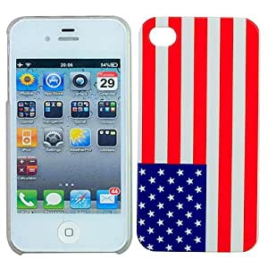 Simple Plastic Hard Case Cover with Flag of America for iPhone 4/4S
