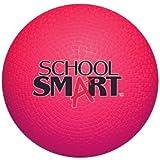 "School Smart 1293603 Rubber Playground Ball, 5"", Red"