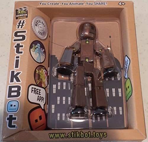 Stikbot, Metalbot Series, Dark Bronze Stikbot Figure, 3 Inches by Stikbot