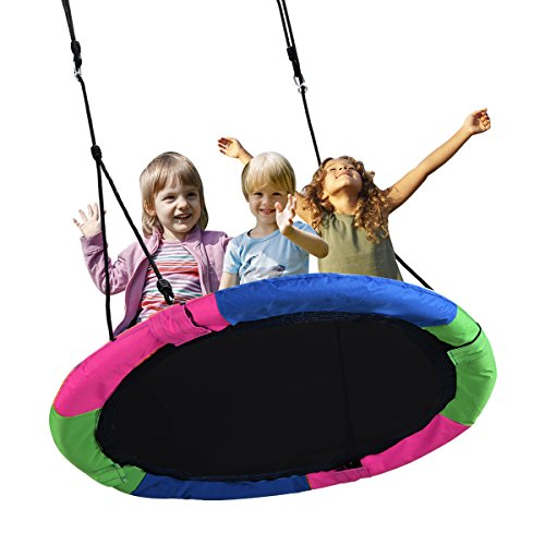 Springcoo Tree Swing, 40'' Diameter Very Large Swing for Multiple Kids Play,Height - Swing Round