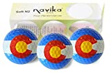Navika Golf Balls- Colorado State Flag Print Wrapped BLING BALLS by USA (Sleeve of 3)