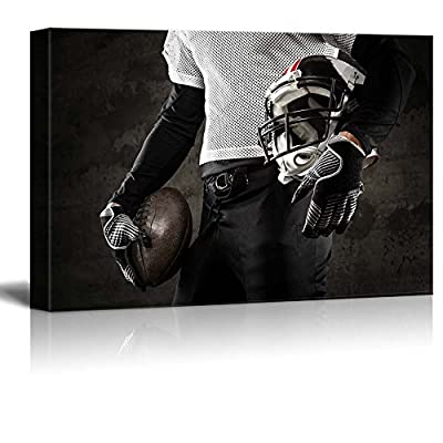 Canvas Prints Wall Art - American Football Uniform | Modern Wall Decor/Home Decoration Stretched Gallery Canvas Wrap Giclee Print. Ready to Hang - 24