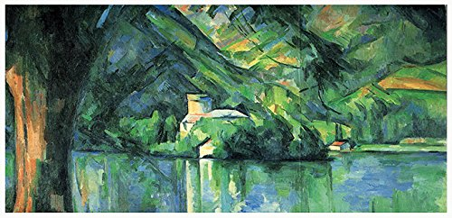 Art Nouveau Postcards (Paul Cezanne Postcards: Still Life with Curtain (1898) and Annecy, the Lake (1896))