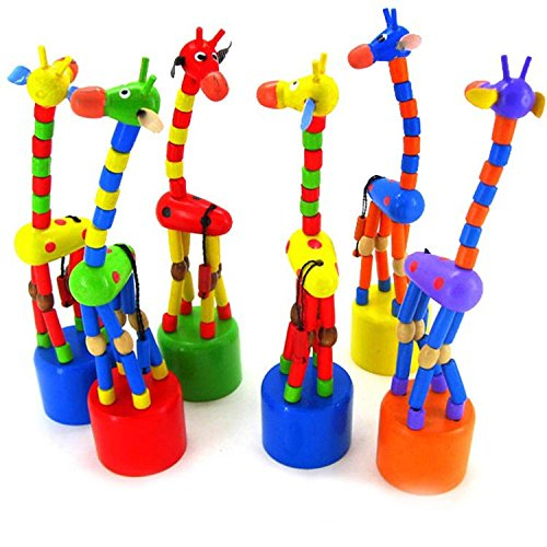 Baby Kids Wooden Toys Developmental Dancing Standing Rocking Giraffe Gift Toys