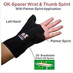 C&A Support New 3D Breathable Patented Knit Fabric RSI Wrist Brace, Carpal Tunnel, BlackBerry Thumb, Trigger Finger, Mommy Thumb Brace, Thumb Splint,for Sports, Sprains, Arthritis and Tendinitis
